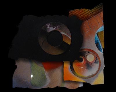 """Logo della galleria """"Frammenti Policromi"""""""